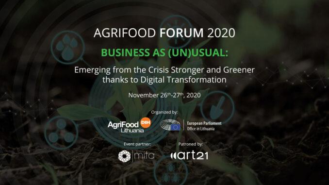 Αγροδιατροφικό Φόρουμ 2020