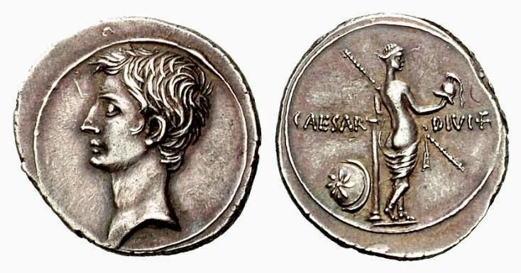 2. Αργυρό δηνάριο Οκταβιανού.